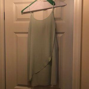 Mint Alice + Olivia silk/chiffon Dress